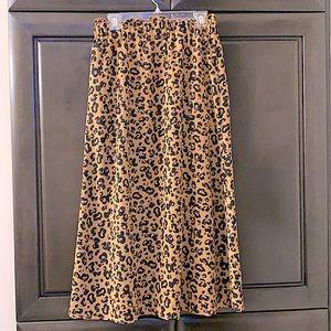 Animal print high waisted maxi skirt